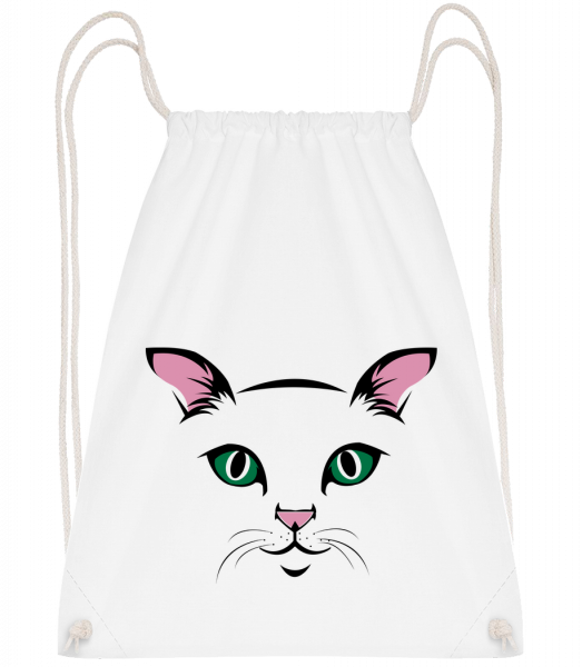 Cute Cat Kids - Sac à dos Drawstring - Blanc - Vorn