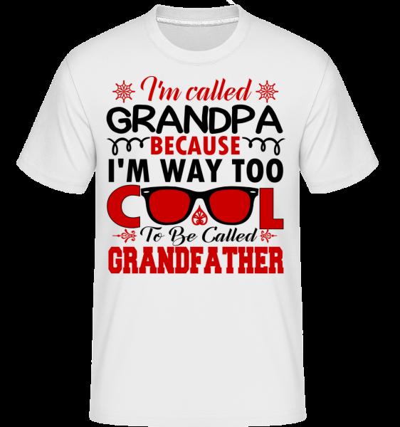 Way Too Cool Grandpa - T-Shirt Shirtinator homme - Blanc - Vorn
