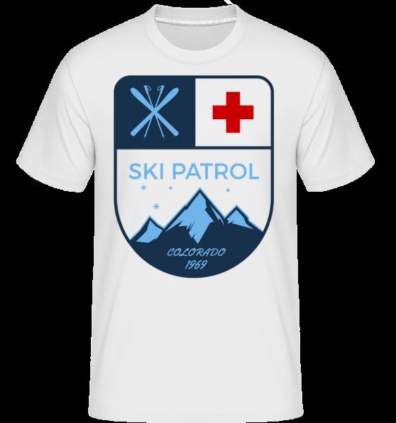 Ski Patrol Sign - T-Shirt Shirtinator homme - Blanc - Vorn