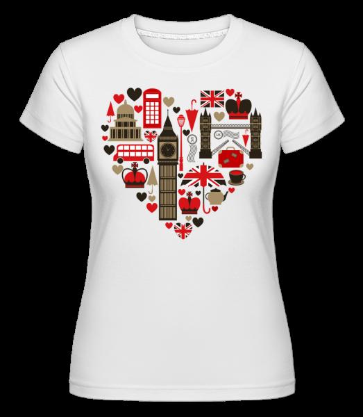 London Love Heart - T-shirt Shirtinator femme - Blanc - Vorn