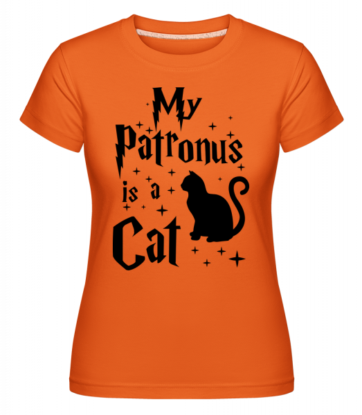 My Patronus Is A Cat -  T-shirt Shirtinator femme - Orange - Vorn