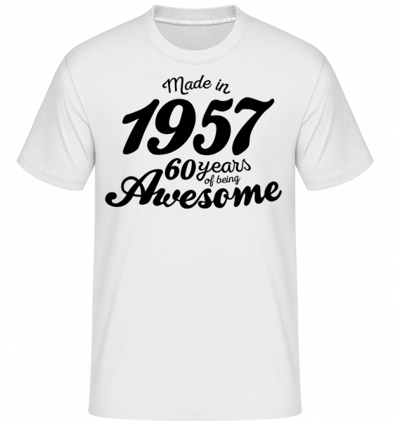 Made In 1957 - T-Shirt Shirtinator homme - Blanc - Vorn