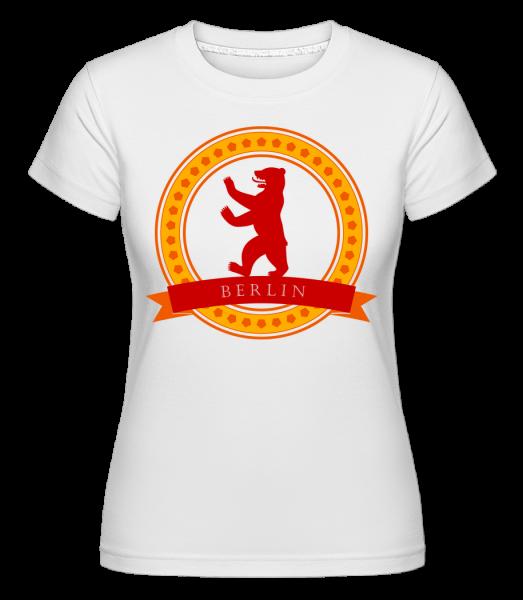 Berlin Bear Icon - T-shirt Shirtinator femme - Blanc - Vorn