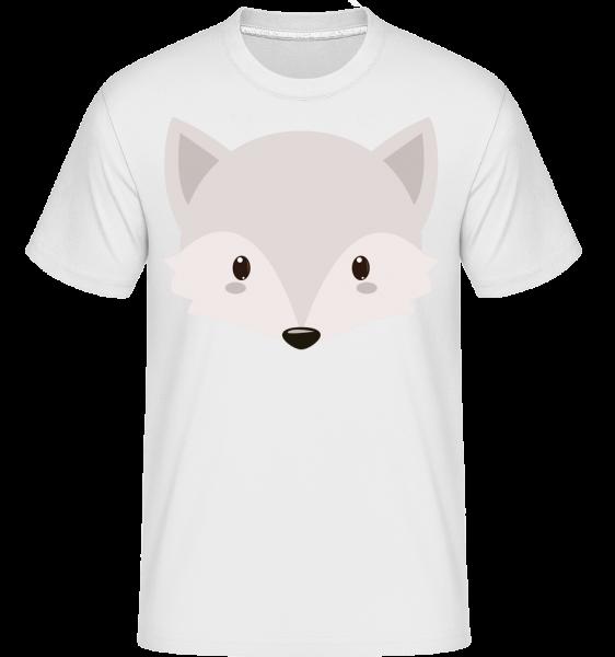 Renard Comic - T-Shirt Shirtinator homme - Blanc - Vorn