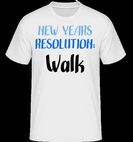 New Years Resolution Walk - T-Shirt Shirtinator homme - Blanc - Vorn