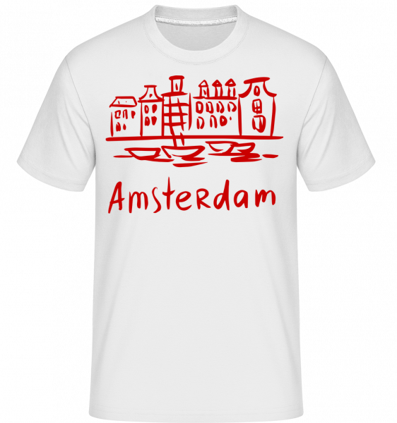 Amsterdam Style Chinois - T-Shirt Shirtinator homme - Blanc - Vorn