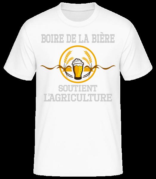 Boire De La Bière - T-shirt standard homme - Blanc - Vorn