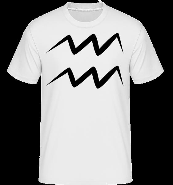 Signe Du Verseau - T-Shirt Shirtinator homme - Blanc - Vorn