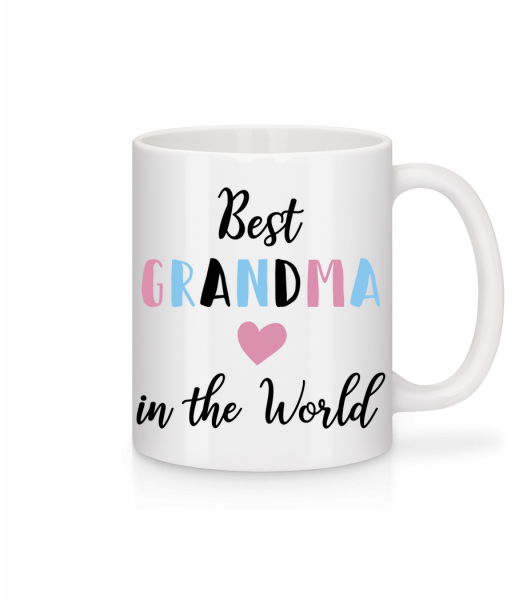 Best Grandma In The World - Mug en céramique blanc - Blanc - Vorn