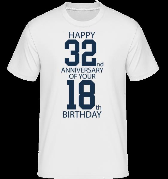50th Birthday - T-Shirt Shirtinator homme - Blanc - Vorn