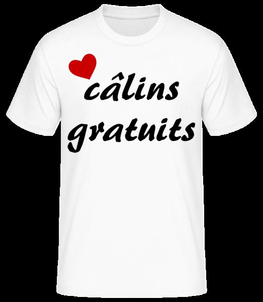 Câlins Gratuits - T-shirt standard homme - Blanc - Vorn