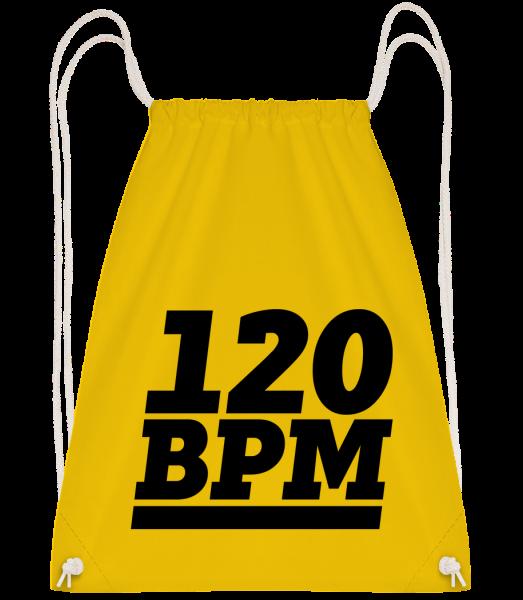 120 BPM Logo - Sac à dos Drawstring - Jaune - Vorn