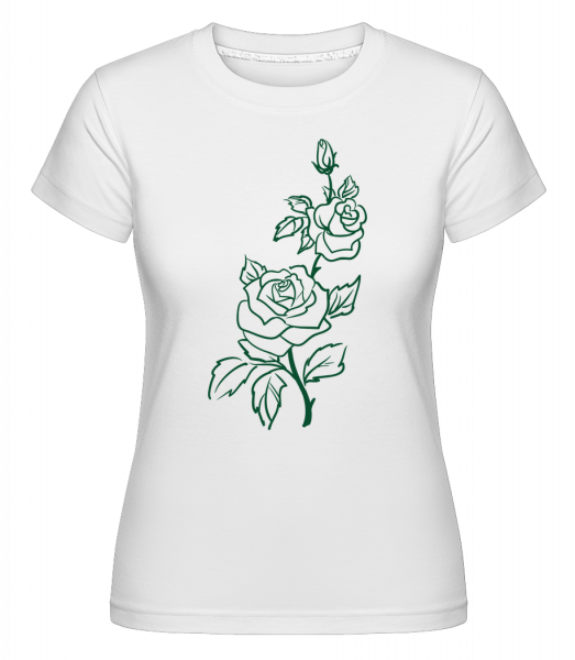 Rose Comic - T-shirt Shirtinator femme - Blanc - Vorn