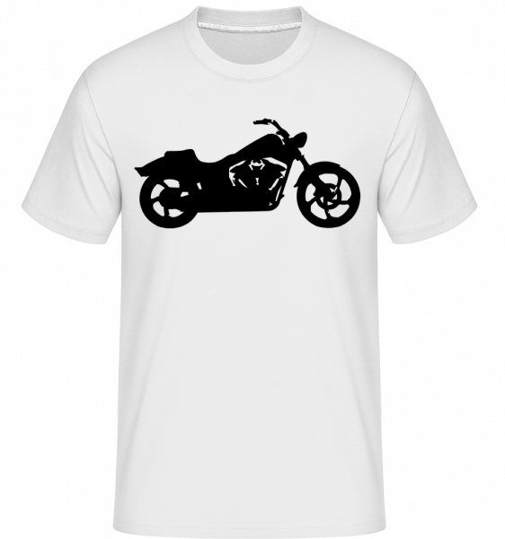 Ombre De Moto - T-Shirt Shirtinator homme - Blanc - Vorn