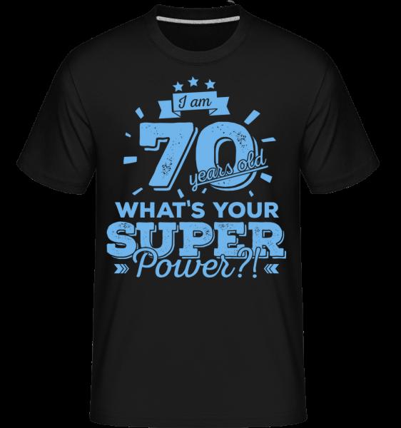 70 Years Super Power - T-Shirt Shirtinator homme - Noir - Vorn