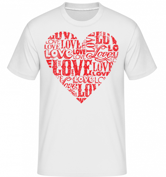 Love Heart Red -  T-Shirt Shirtinator homme - Blanc - Vorn