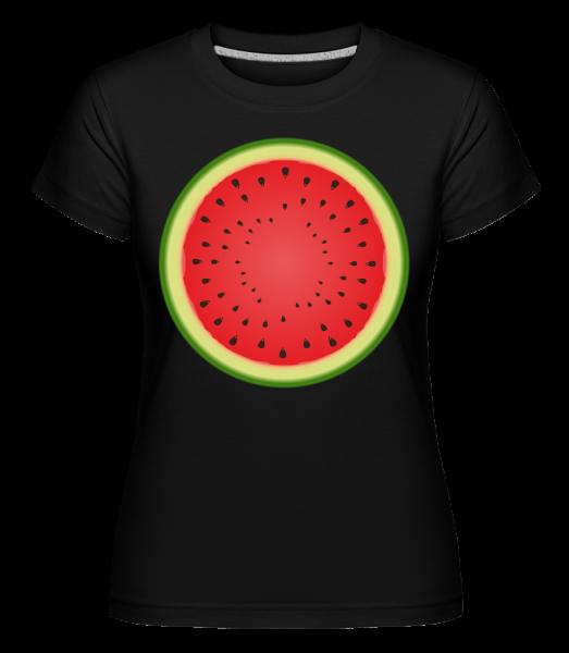 Pastèque - T-shirt Shirtinator femme - Noir - Vorn