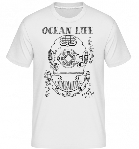 Ocean Life Logo - T-Shirt Shirtinator homme - Blanc - Vorn