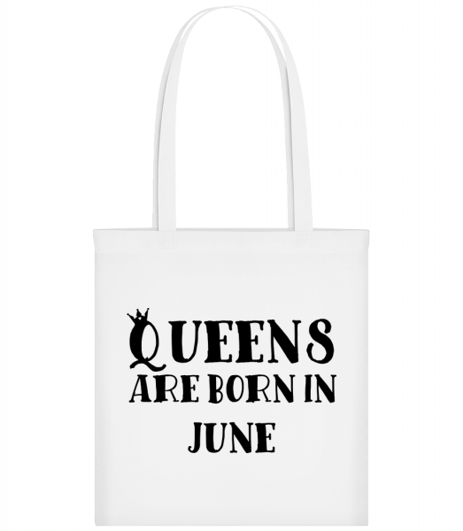 Queens Are Born In June - Sac tote - Blanc - Vorn