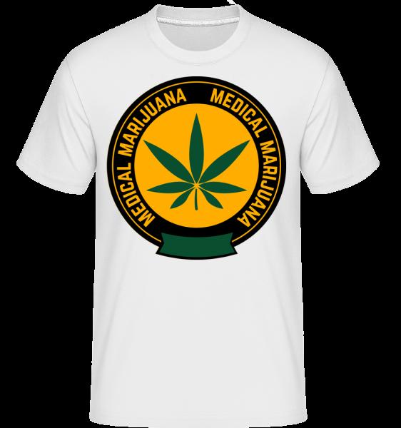 Medical Marijuana - T-Shirt Shirtinator homme - Blanc - Vorn