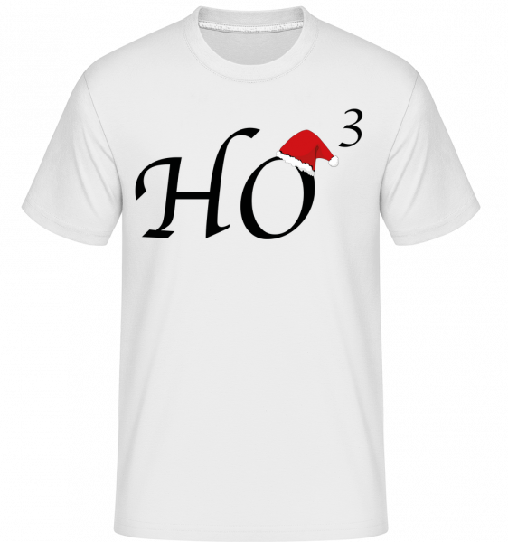 Ho * 3 - T-Shirt Shirtinator homme - Blanc - Vorn