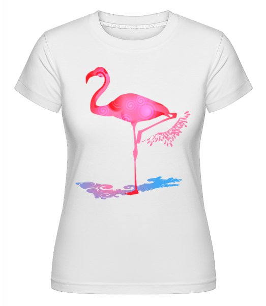 Flamant - T-shirt Shirtinator femme - Blanc - Vorn