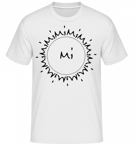 Mimimi - T-Shirt Shirtinator homme - Blanc - Vorn