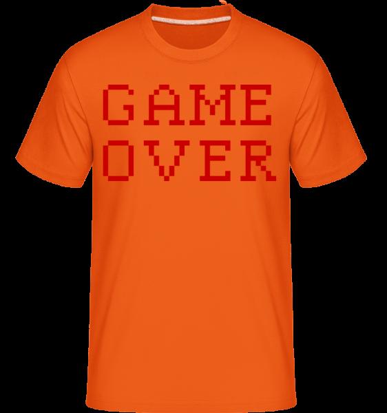 Game Over Pixel - T-Shirt Shirtinator homme - Orange - Vorn