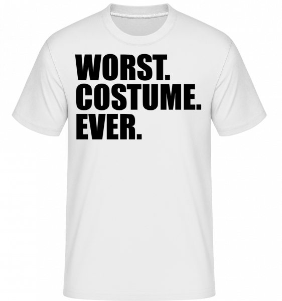 Worst. Costume. Ever. - T-Shirt Shirtinator homme - Blanc - Vorn