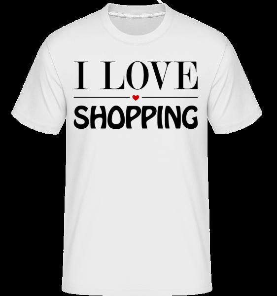 I Love Shopping -  T-Shirt Shirtinator homme - Blanc - Vorn