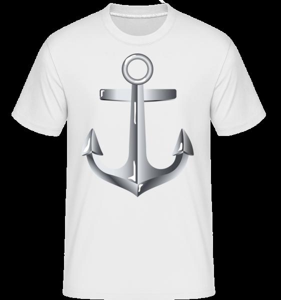 Anchor Comic Silver - T-Shirt Shirtinator homme - Blanc - Vorn