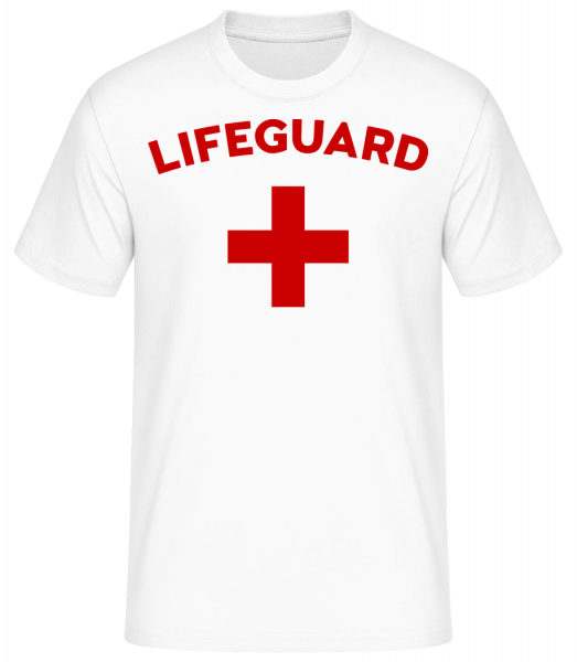 Lifeguard - Basic T-Shirt - Blanc - Vorn