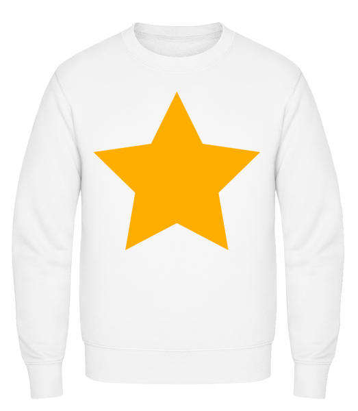 Star Icon Yellow - Sweat-shirt classique avec manches set-in - Blanc - Vorn