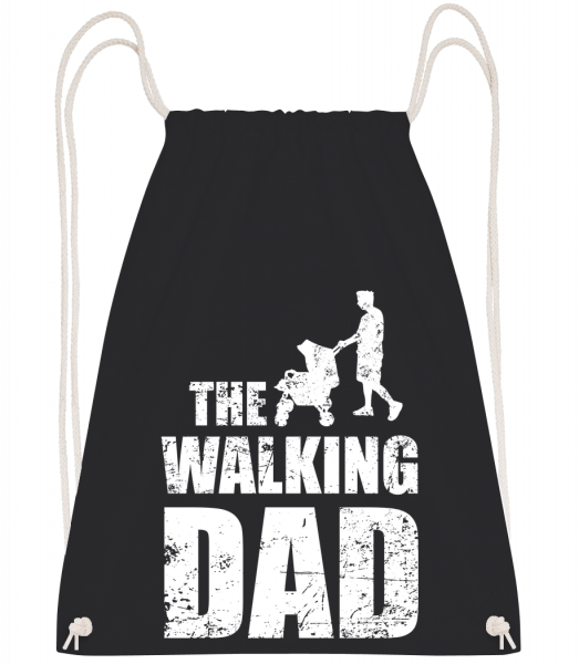 The Walking Dad - Sac à dos Drawstring - Noir - Vorn
