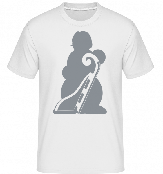 Sledge Snowman Grey - T-Shirt Shirtinator homme - Blanc - Vorn