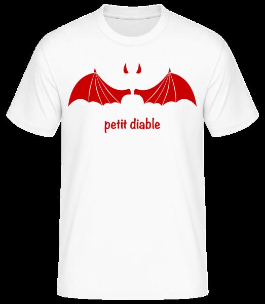 Petit Diable Rouge - T-shirt standard homme - Blanc - Vorn