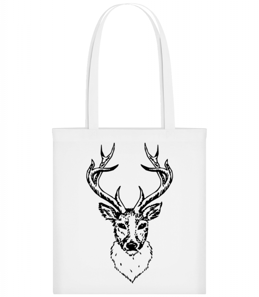 Deer Head Black - Sac tote - Blanc - Vorn