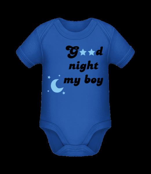 Good Night My Boy - Body manches courtes bio - Bleu royal - Vorn