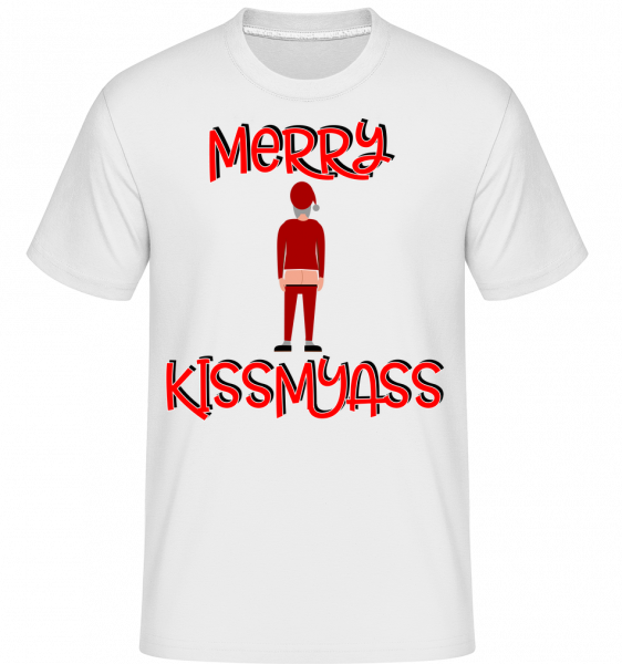 Merry Kissmyass - T-Shirt Shirtinator homme - Blanc - Vorn