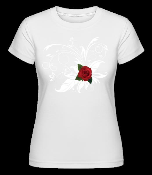 Rose Rouge - T-shirt Shirtinator femme - Blanc - Vorn