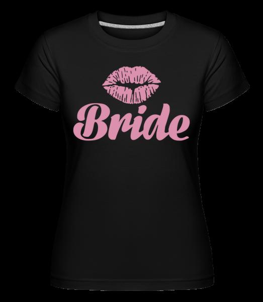Bride Kiss - T-shirt Shirtinator femme - Noir - Vorn