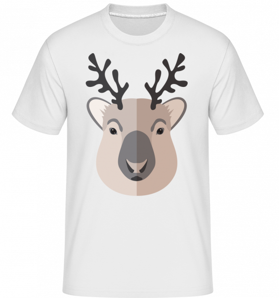 Cerf Comic Ombre - T-Shirt Shirtinator homme - Blanc - Vorn