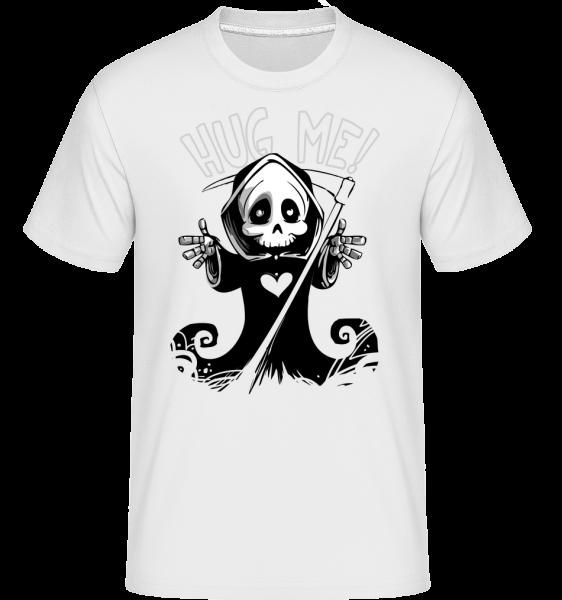 Death Want's A Hug - T-Shirt Shirtinator homme - Blanc - Vorn