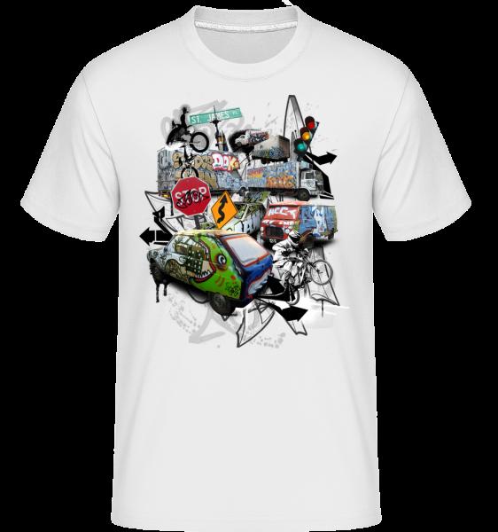 Chaos De La Circulation - T-Shirt Shirtinator homme - Blanc - Vorn