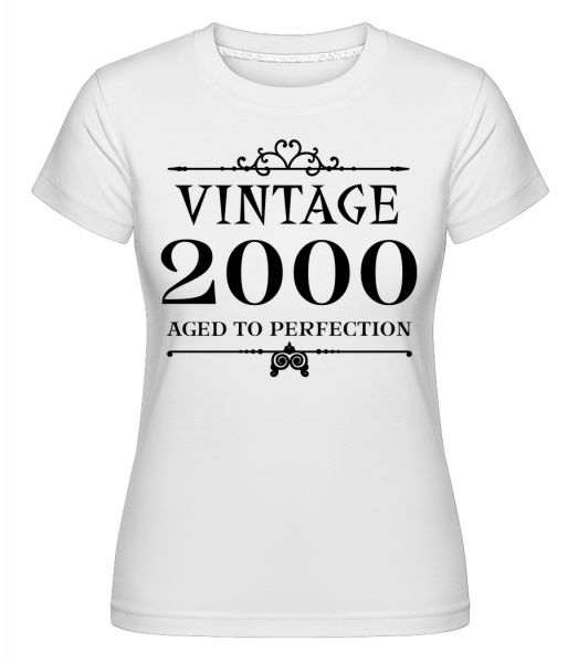 Vintage 2000 Perfection - T-shirt Shirtinator femme - Blanc - Vorn