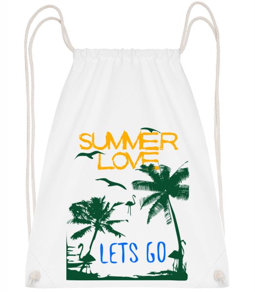 Summer Love Icon - Sac à dos Drawstring - Blanc - Vorn