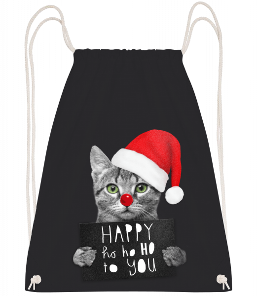 Happy Ho Ho Ho To You - Sac à dos Drawstring - Noir - Vorn