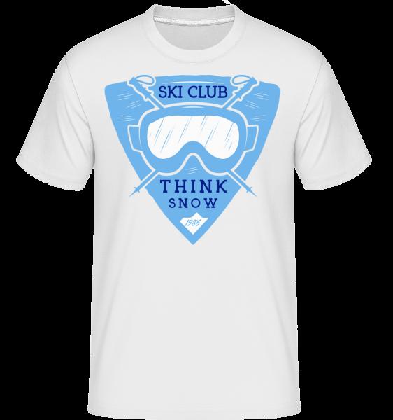 Ski Club Think Snow - T-Shirt Shirtinator homme - Blanc - Vorn