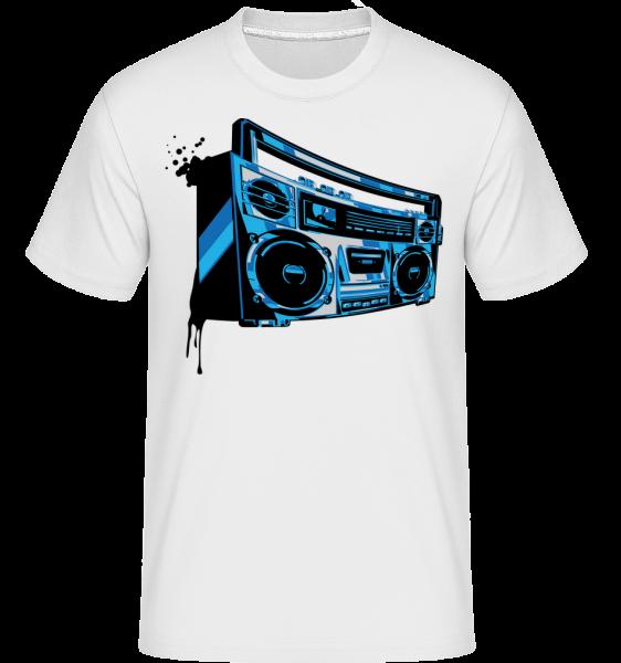 Boombox - T-Shirt Shirtinator homme - Blanc - Vorn