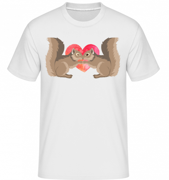 Squirrel Love - T-Shirt Shirtinator homme - Blanc - Vorn